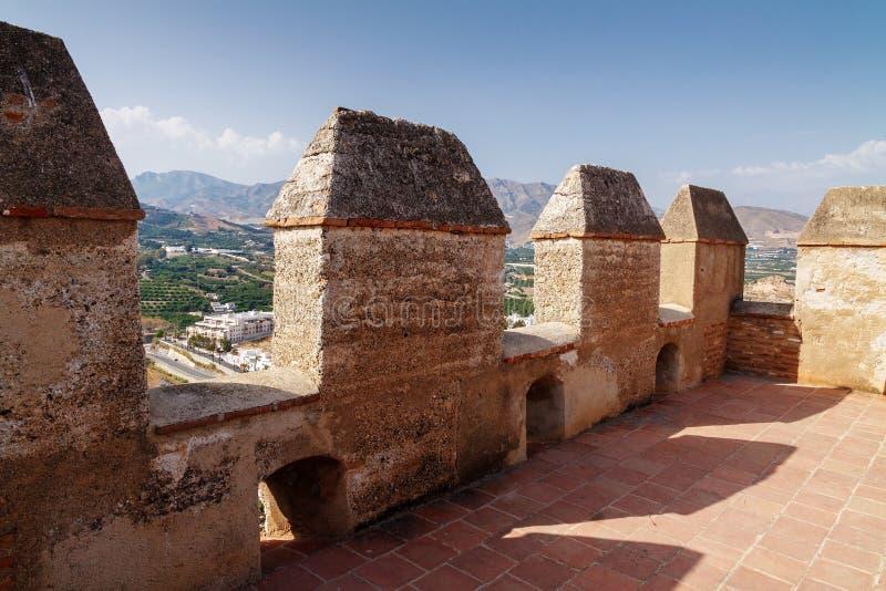 Sur la tour du château médiéval dans Solobrenia photographie stock