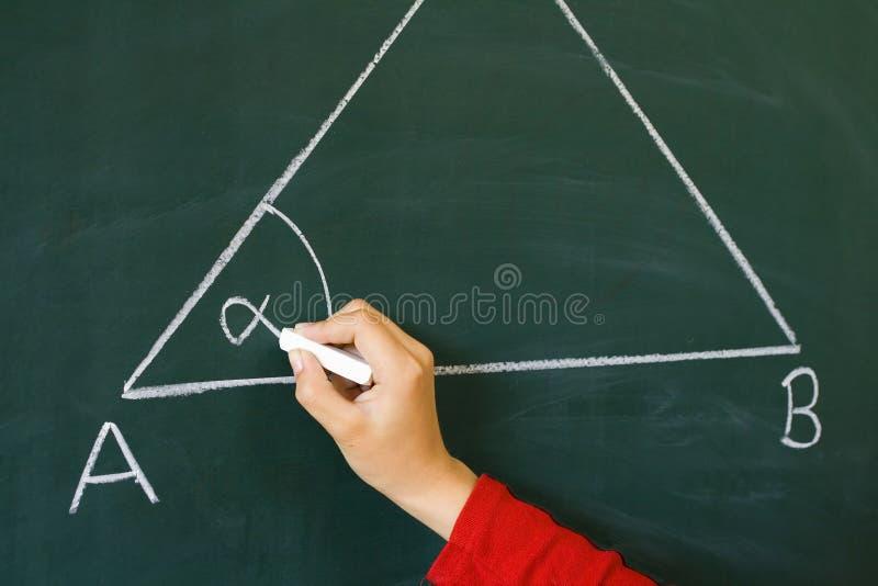 Sur la triangle de table images libres de droits