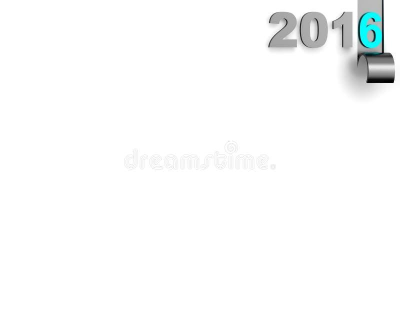 2016 sur le blanc blanc de fond photo libre de droits