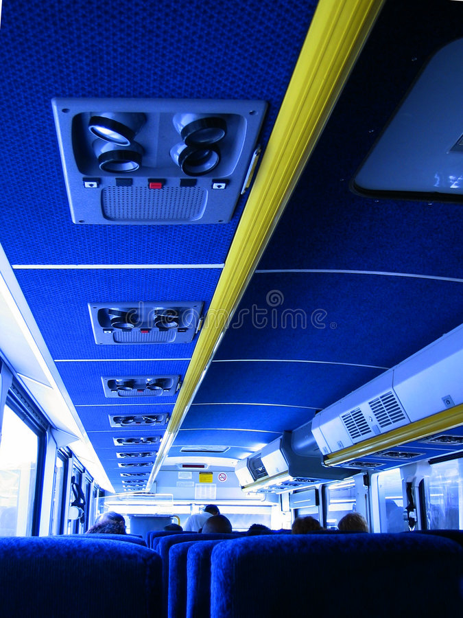 Sur le bus photo libre de droits