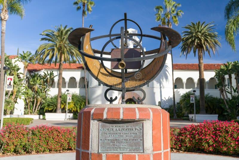 Sur le campus de San Diego State University images stock
