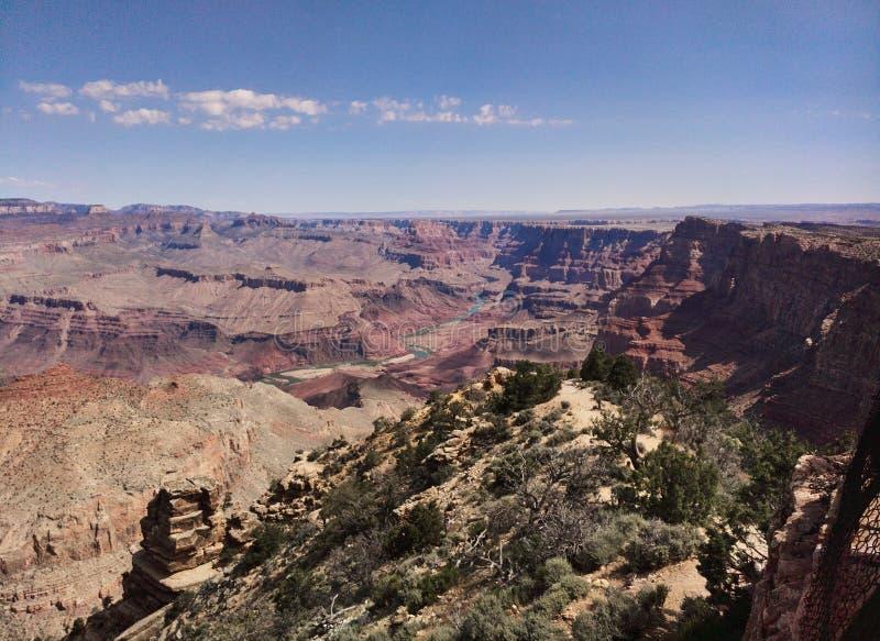Sur le canyon grand du Colorado photos stock
