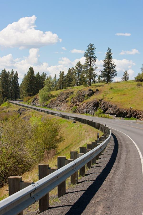 Sur le chemin à Palouse, Washington photos libres de droits