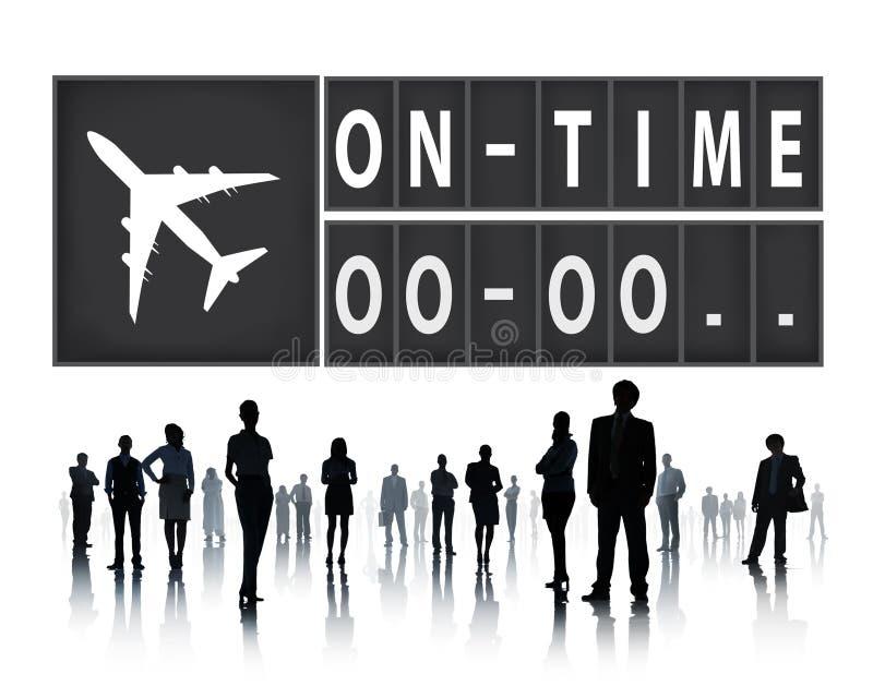Sur le concept ponctuel de gestion d'organisation d'efficacité de temps images stock