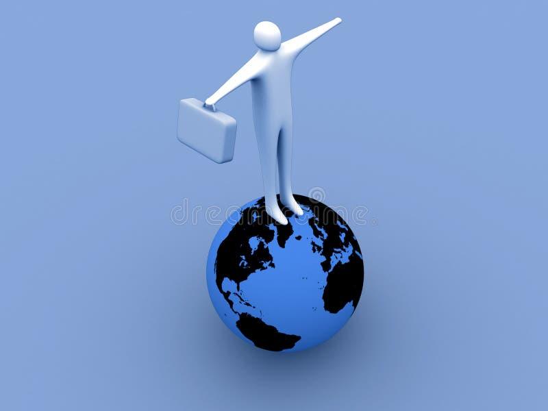 Sur le dessus du monde illustration de vecteur