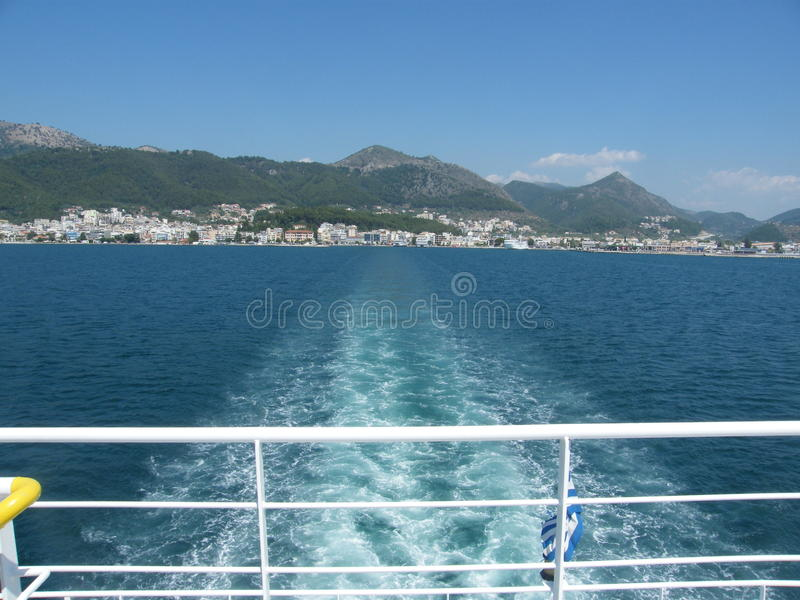 Sur le ferry-boat photo libre de droits