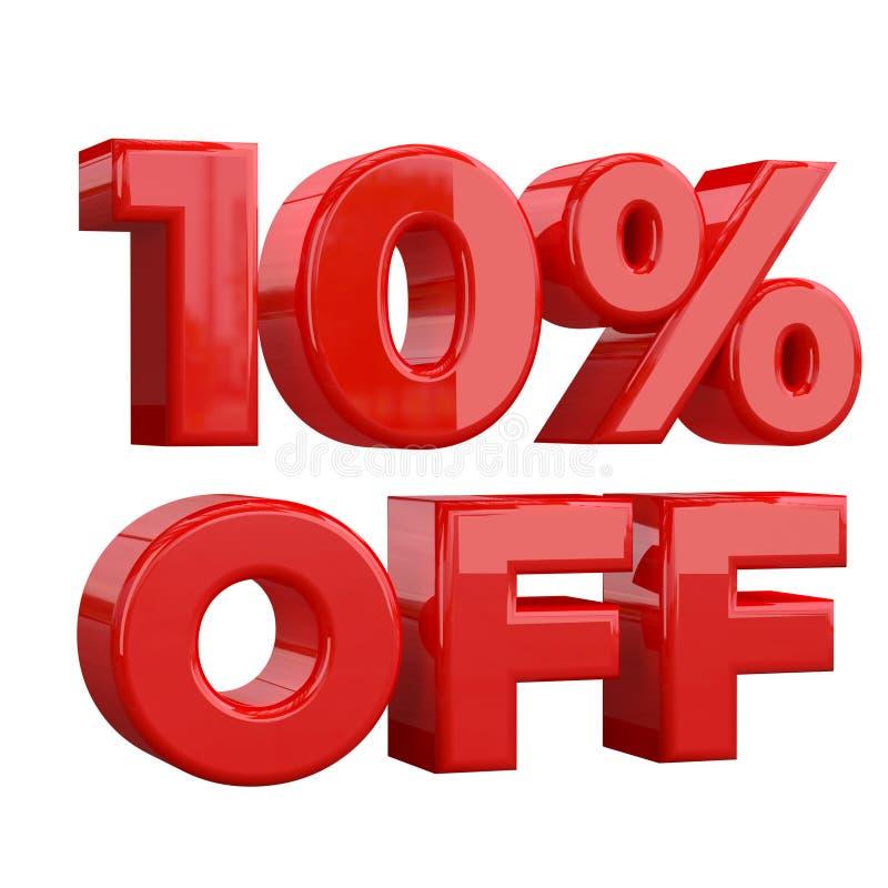 10% sur le fond blanc, offre spéciale, grande offre, vente Dix pour cent outre de bannière, de label et d'étiquette de publicité  illustration libre de droits