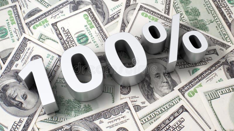 100  Sur Le Fond Du Dollar Images libres de droits