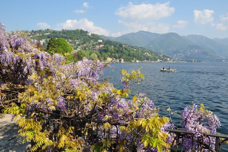 Sur le lac Como Italie images libres de droits