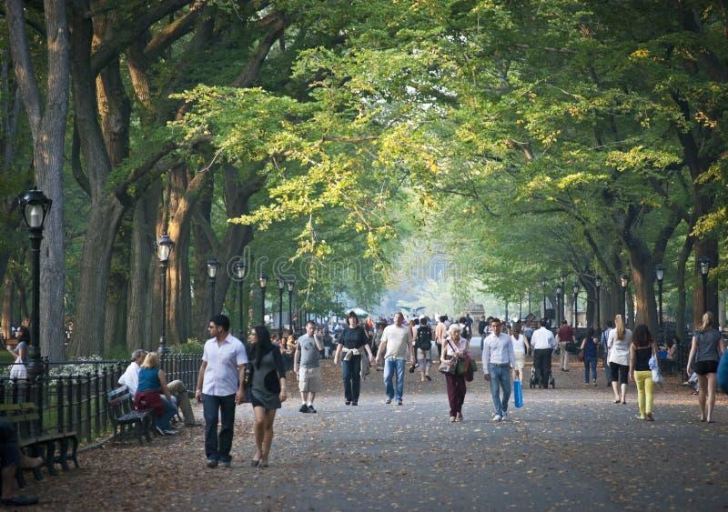 Sur le mail Central Park photographie stock