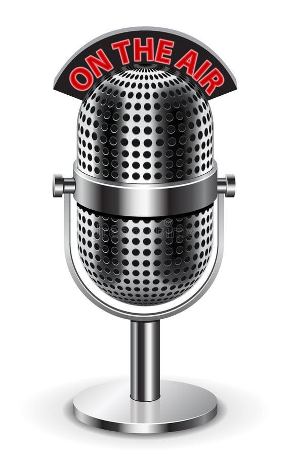 Sur le microphone d'air illustration de vecteur