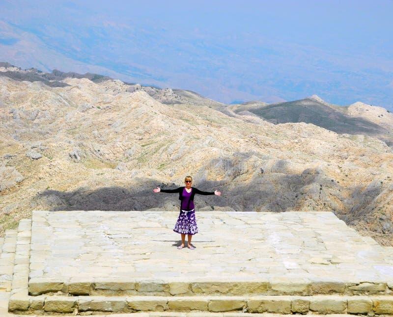 Sur le mont Nemrut, la Turquie photos stock