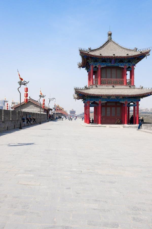 Sur le mur de Xian, la Chine photo libre de droits