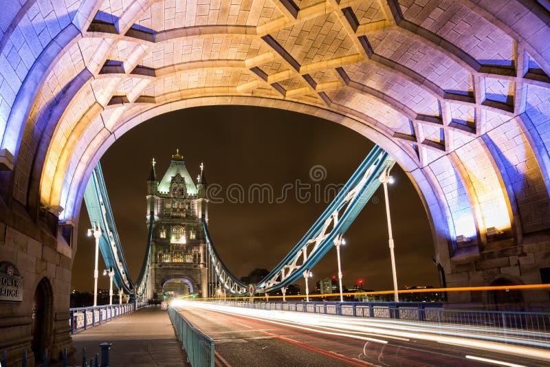 Sur le pont de tour de Londres images libres de droits