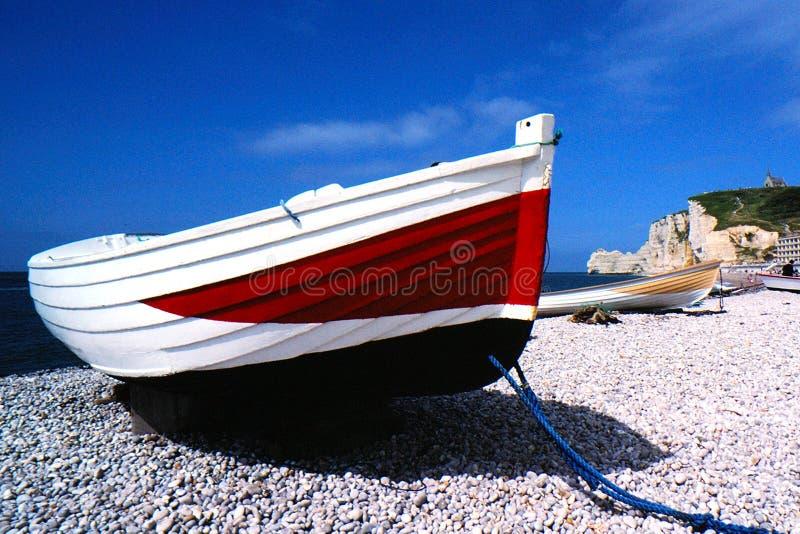 Sur le rivage de la Normandie photos libres de droits