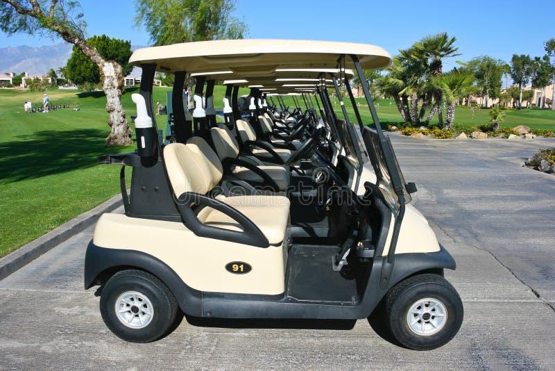 Sur le terrain de golf image stock