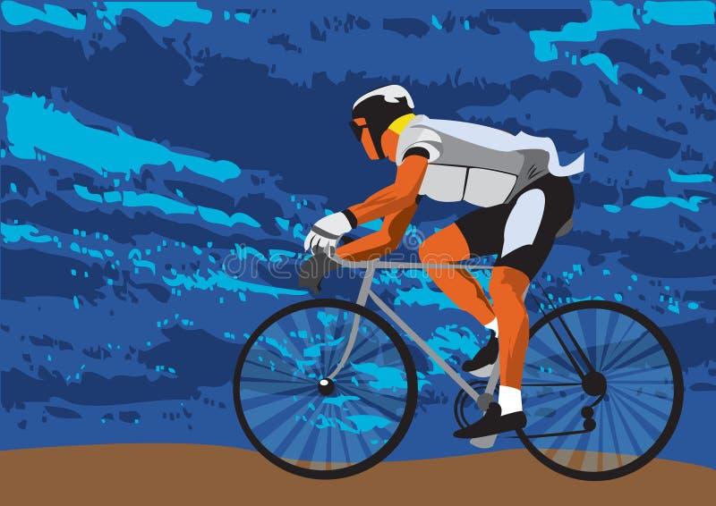 Sur le vélo illustration stock