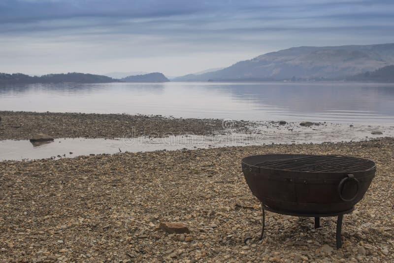 Sur les banques de Loch Lomond photos libres de droits