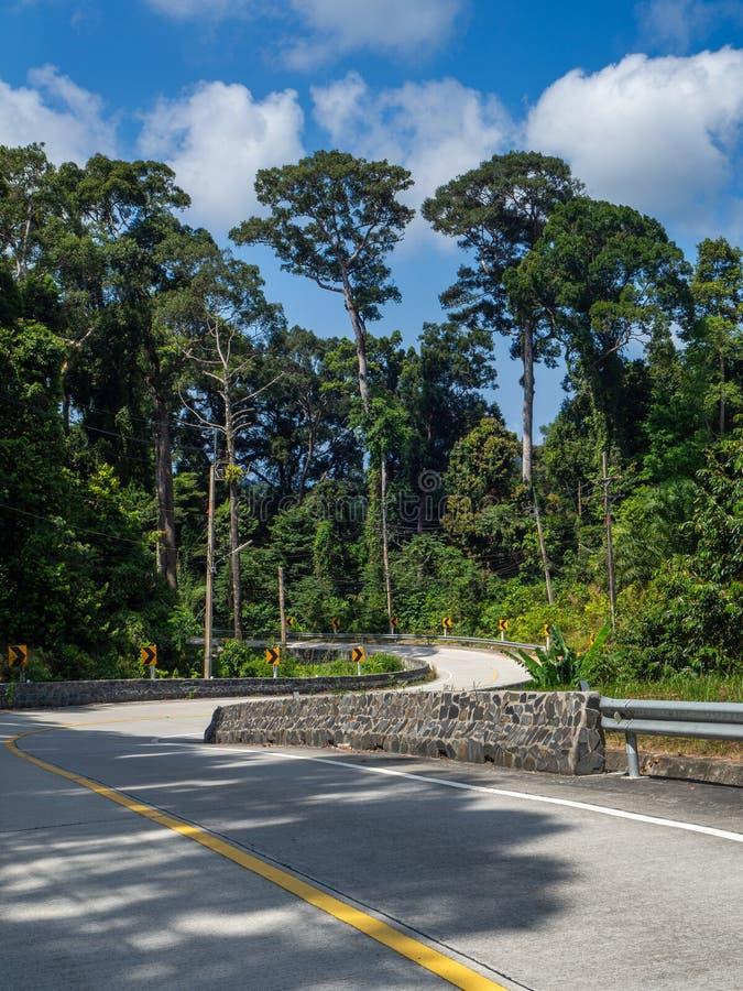 Sur les belles routes de Koh Phangan photo stock