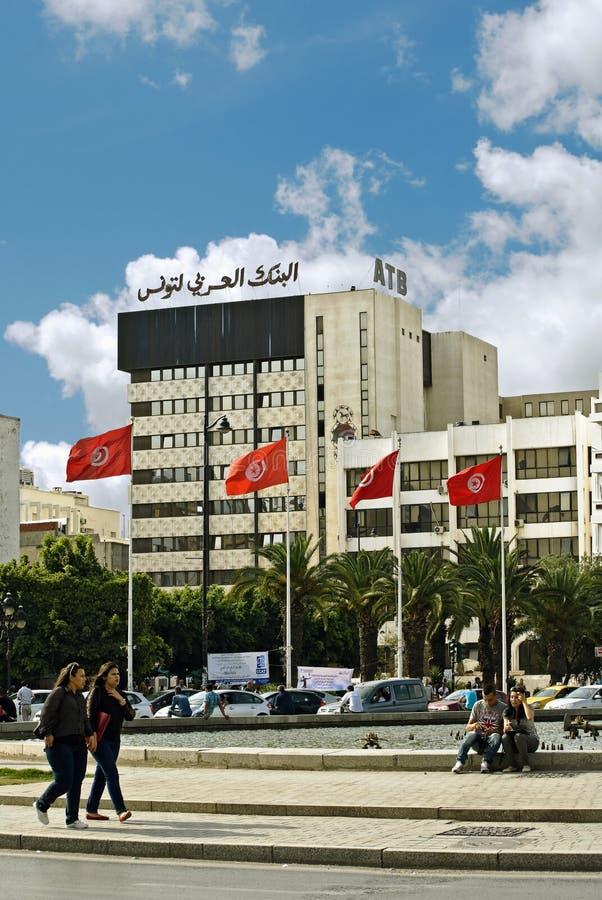 Sur les rues de Tunis, la capitale de la république tunisienne photos libres de droits