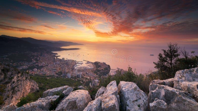 Sur Monaco de soleil de levier photographie stock libre de droits