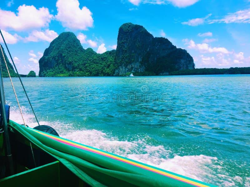 Sur notre chemin vers l'île de James Bond photo libre de droits