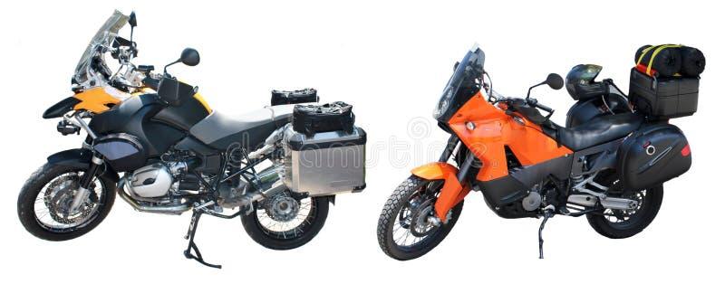 Sur outre des motos photos libres de droits