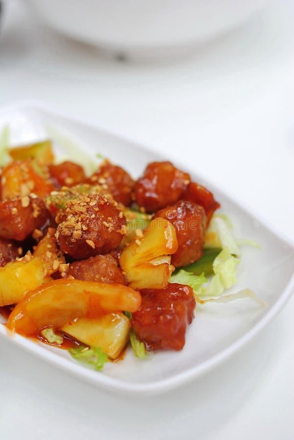 sur söt vegetarian för kinesisk pork arkivfoto