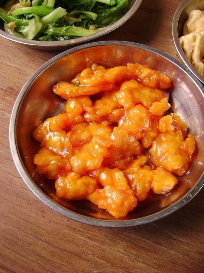 sur sötsak för asiatisk kokkonstpork royaltyfri fotografi