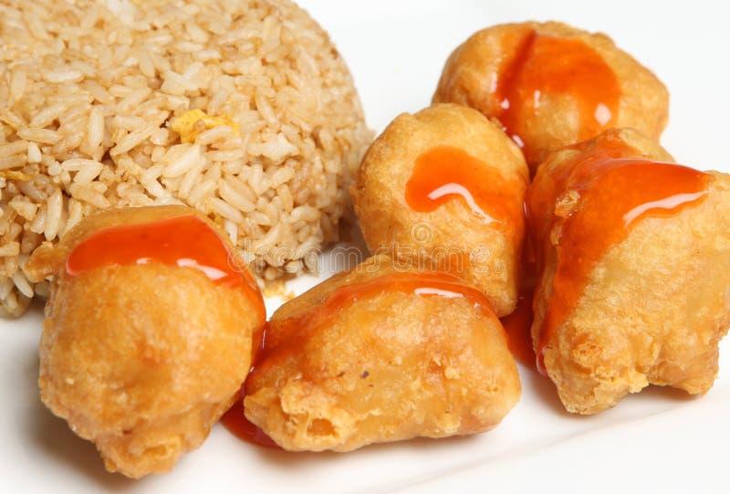 sur sötsak för kinesisk matpork royaltyfria bilder