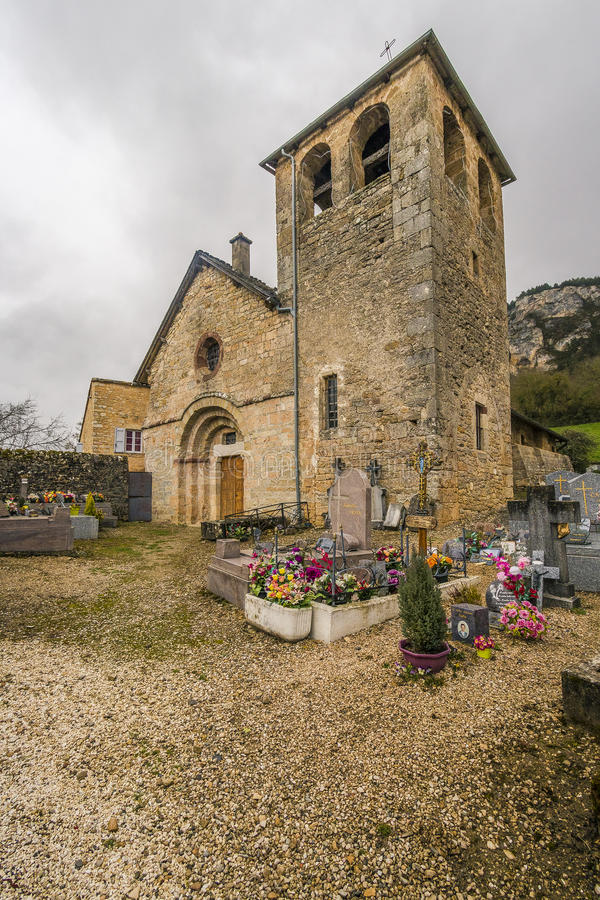 Sur Tartaronne de Saint Saturnin, França imagem de stock royalty free