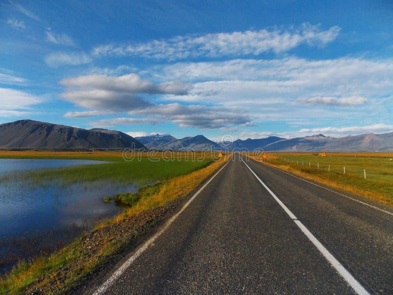 Sur un chemin vers les fjords du sud photographie stock libre de droits