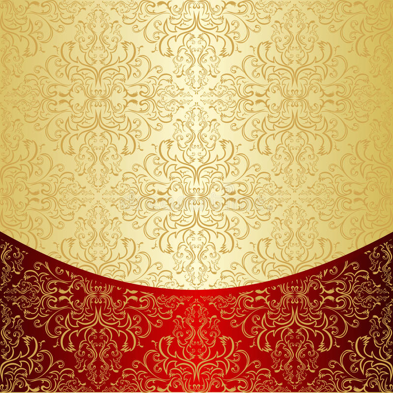 Le fond de luxe a décoré un modèle d'or. illustration libre de droits