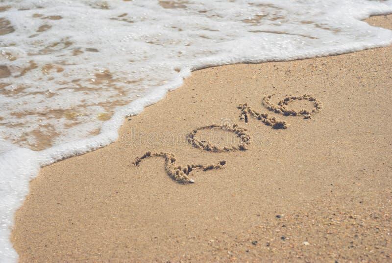 2016 sur une plage 2 photographie stock