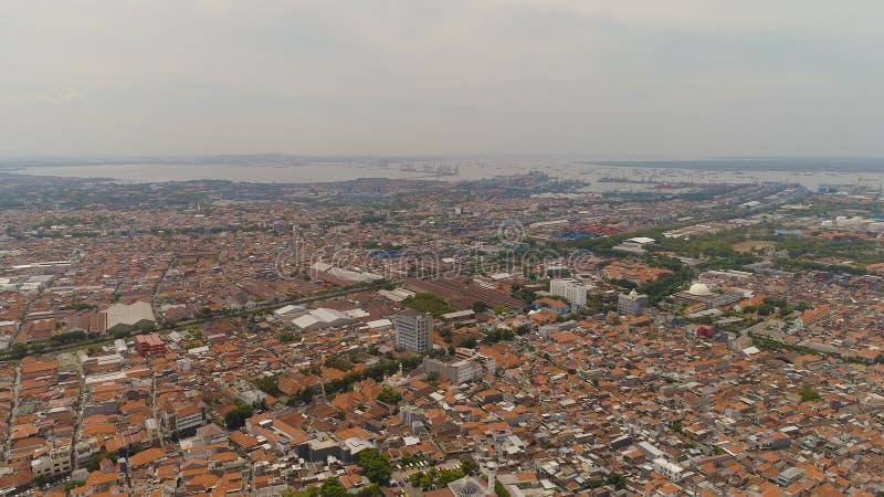 Surabaya capital city east java, indonesia stock photo