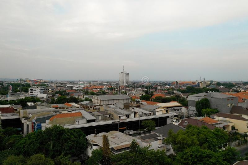 Surabaya capital city east java, indonesia stock image