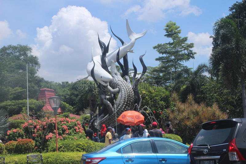 Surabaya Icon Park Indonesia stock images
