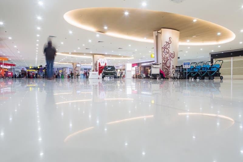 SURABAYA, INDONESIEN - 25. März 2016: Internationaler Flughafen Surabayas Juanda - intierior Surabaya, Osttimor lizenzfreies stockbild