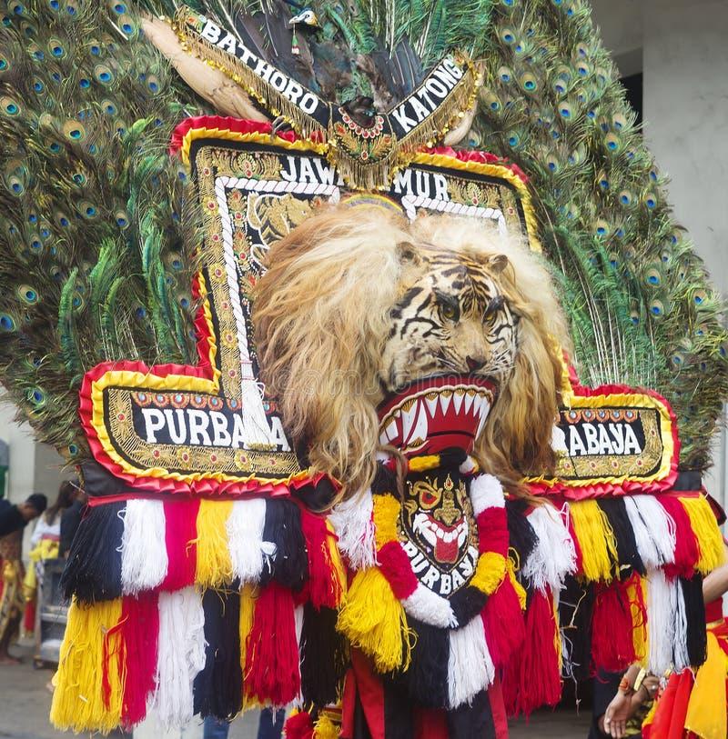 Surabaya Indonesien som hälsar turister från landskapen av ön av Java royaltyfria foton