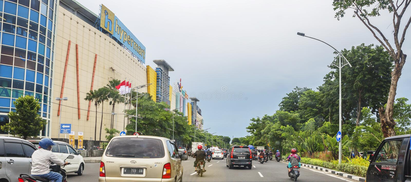Surabaya, Indonesien, Stadtbild stockfotos