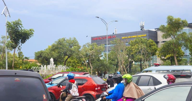 Surabaya, Indonesien, Stadtbild lizenzfreies stockbild