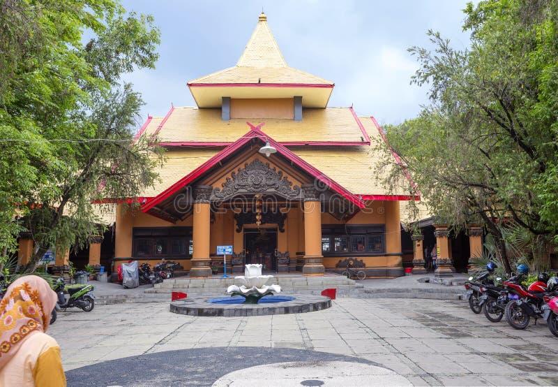 Surabaya, Indonesien, Tempel Sanggar Agung Chinese stockfotografie