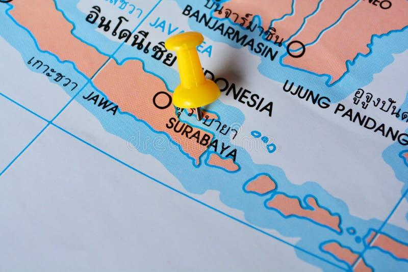 Surabaya mapa obraz stock