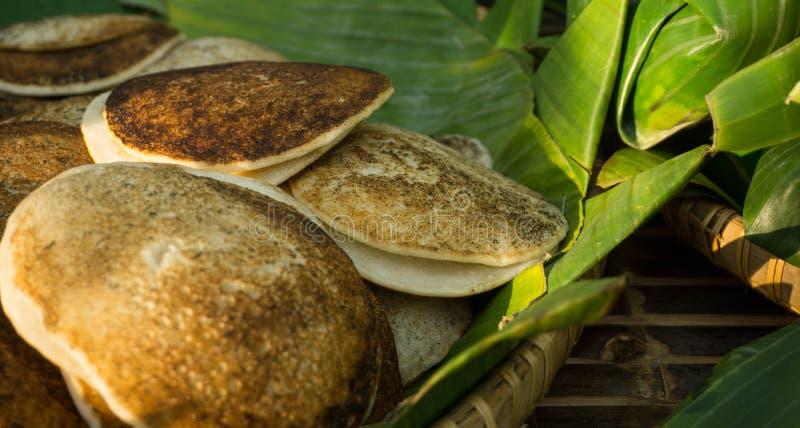 Surabi lub serabi tradycyjny jedzenie od Indonesia fotografia royalty free