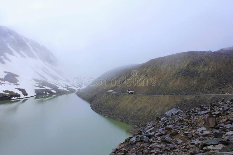 Suraj Taal, Ladakh, Jammu en Kashmir, India royalty-vrije stock foto's