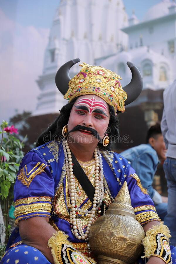 Surajkund, Faridabad, Haryana, India - February 14, 2020 - Indian Stage Performer / Artist  during the 34th Surajkund. International Crafts Mela. The festival royalty free stock photography
