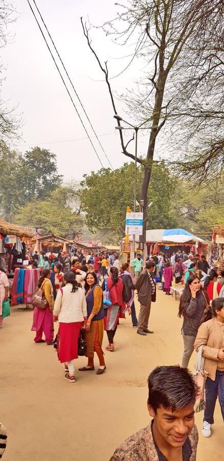 Surajkund macht Mela Fair in Handarbeit lizenzfreies stockbild