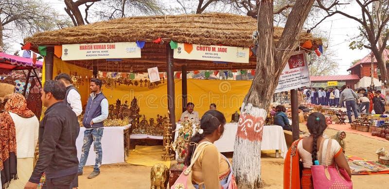 Surajkund macht Mela Fair in Handarbeit stockfotografie
