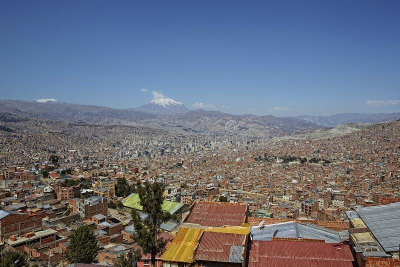 Suramérica, Bolivia, La Paz, paisaje urbano imágenes de archivo libres de regalías