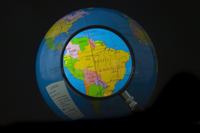Suramérica en foco imagenes de archivo
